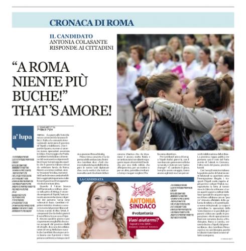Intervista al Candidato Sindaco Antonia Colasante sul problema delle buche a Roma. #votantonia