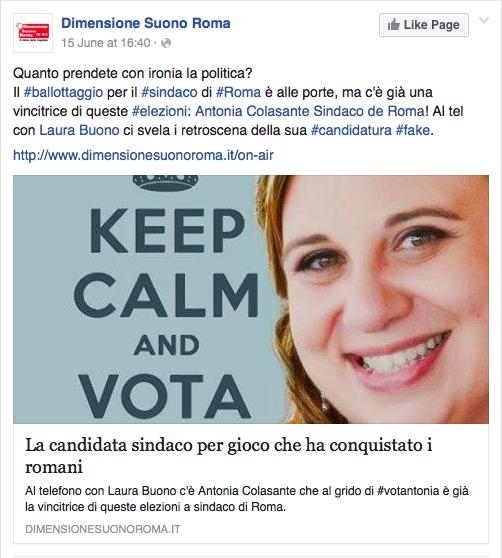 RDS Roma 16-06-15 intervista post Facebook