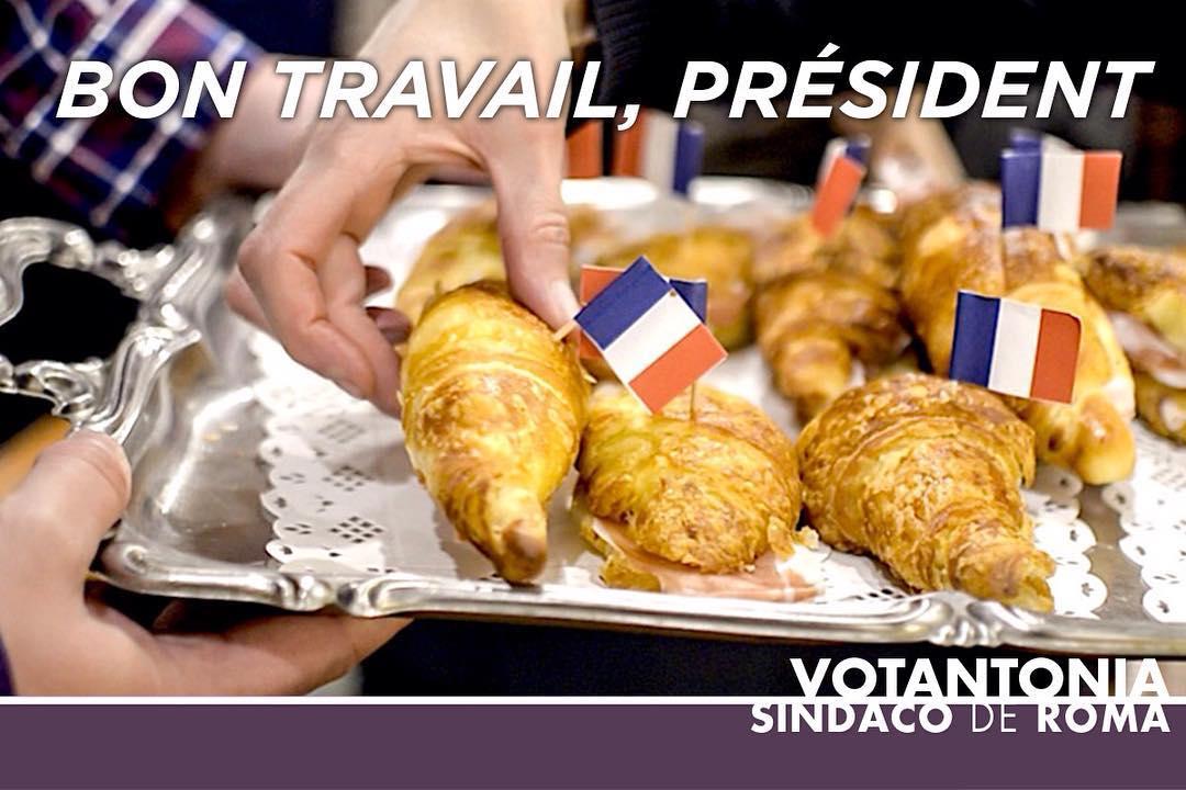 #Votantonia porge i suoi migliori auguri a #EmmanuelMacron, il 25° presidente della Repubblica francese #Presidentielle2017⠀ E gli ricorda che una colazione sana ed energetica è alla base di ogni buon servizio alla Nazione!