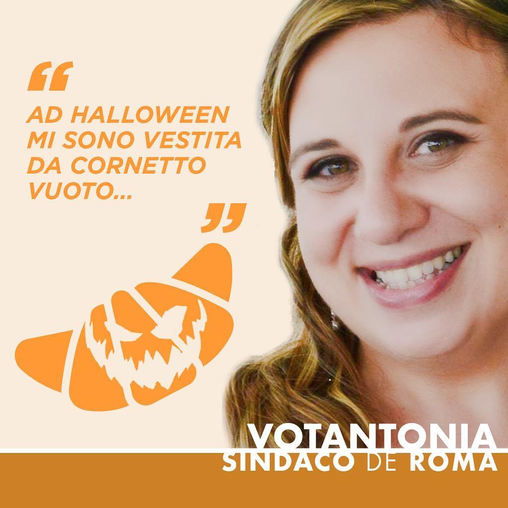 Ad #Halloween mi sono vestita da cornetto vuoto…⠀ #votantonia #trickortreat