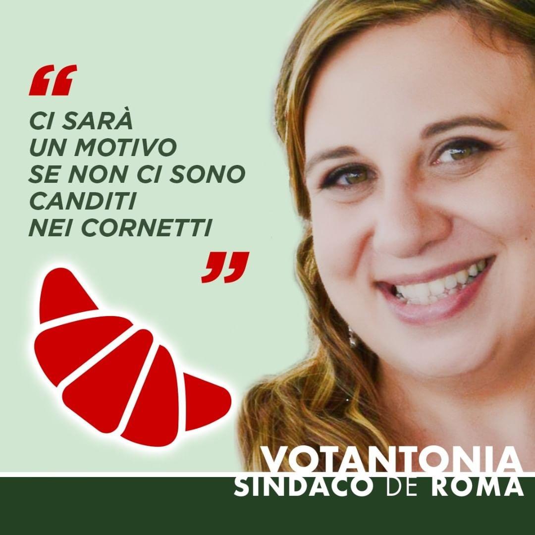 Ci sarà un motivo se non ci sono canditi nei cornetti. #votantonia #sindacodinatale